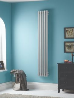HeatQuick - Pine Vertical Radiator - Chrome