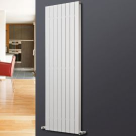 EucoTherm - Mars Deluxe Single Vertical Radiator - White