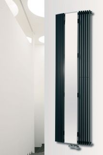 EucoTherm - Corus Mirror Curved Radiator - Anthracite