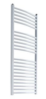 Reina - Diva Curved Towel Radiator - White