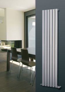 EucoTherm - Mars Chrome Vertical Radiator - Chrome