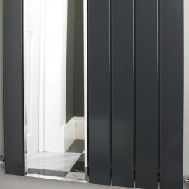 EucoTherm - Mars Mirror Single Vertical Radiator - Anthracite