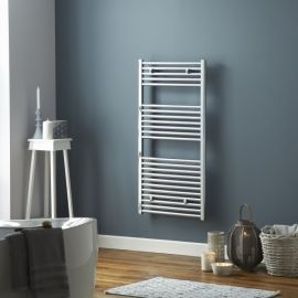 HeatQuick - Tawny 25mm Flat Towel Radiator - Chrome