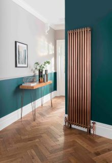 The Radiator Company - Ancona Galvanised Vertical Column Radiator - Copper