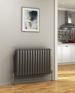 DQ - Cassius Column Horizontal Radiator - Anthracite