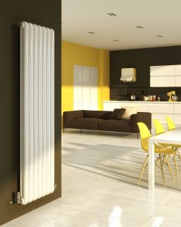 DQ - Cassius Column Vertical Radiator - White