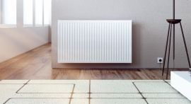 HeatQuick - Single Convector Aluminium Horizontal Compact Radiator - White