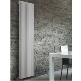 DQ - Cube Single Vertical Radiator - White