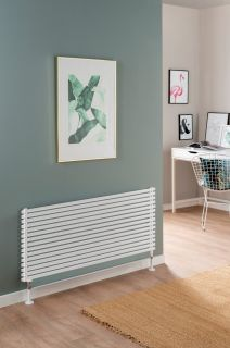 DQ - Cube Single Horizontal Radiator - White