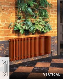 DQ - Modus 3 Column Vertical Radiator - Copper Lacquered Finish