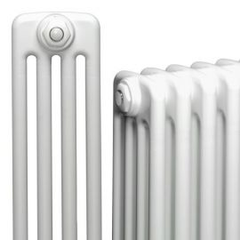 DQ - Peta 4 Column Horizontal Radiator - White