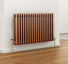 DQ - Peta 3 Column Horizontal Radiator - Copper