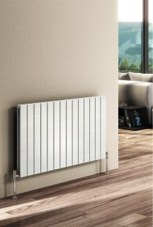 Reina - Flat Horizontal Double Radiator - White
