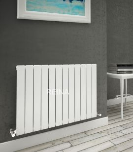 Reina - Flat Horizontal Single Radiator - White