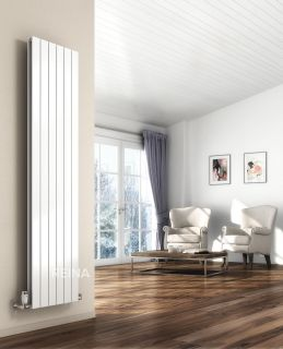 Reina - Flat Vertical Double Radiator - White