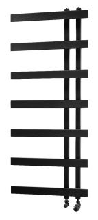 HeatQuick - Beech Vertical Towel Radiator - Black
