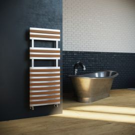 DQ - Mahana Towel Radiator - Brushed Stainless Steel - 1200mm x 500mm