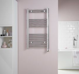 HeatQuick - Hackberry 43 Degree Regulated Electric Towel Radiator - Chrome