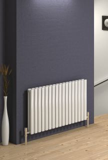 Reina - Neva 2 Column Horizontal Single Convector - White