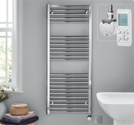 HeatQuick - Tawny - Thermostatic Towel Radiator - Chrome
