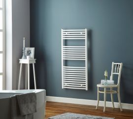 HeatQuick - Tawny 25mm Flat Towel Radiator - White