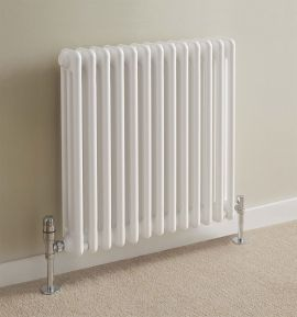 HeatQuick - Goshawk Horizontal 3 Column Radiator - White