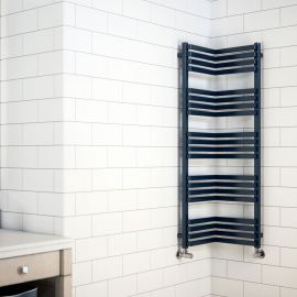 Terma - Incorner Space Saving Towel Radiator - RAL Colour | Radiators Online