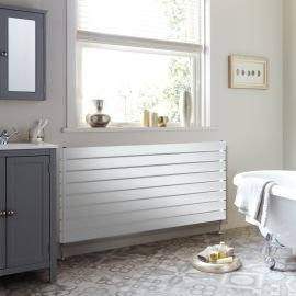 DQ - Tornado Single Horizontal Radiator - White