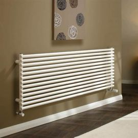 DQ - Vulcano Double Horizontal Radiator - White