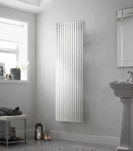 DQ - Vulcano Double Vertical Radiator - White