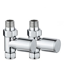 HeatQuick - Round Straight Valve - Chrome