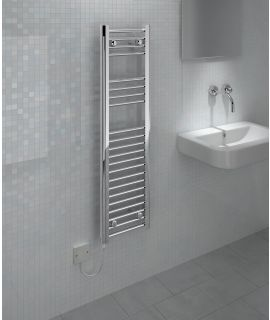 Kudox - Electric Towel Rail Straight - Chrome