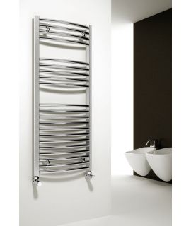 Reina - Diva Curved Towel Radiator - Chrome