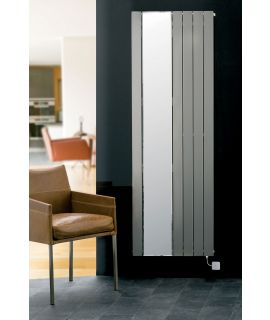 EucoTherm - Mars Mirror Single Vertical Radiator - Silver