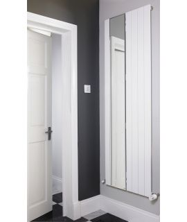 EucoTherm - Mars Mirror Single Vertical Radiator - White