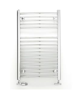 HeatQuick - Tawny 25mm Curved Towel Radiator - Chrome