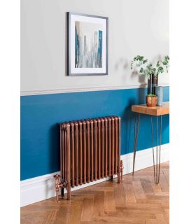 The Radiator Company - Ancona Galvanised Horizontal Column Radiator - Copper