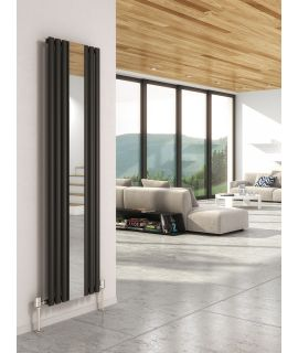 DQ - Cove Vertical Mirror Radiator - Anthracite