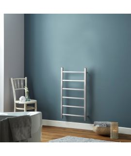 HeatQuick - Fir Vertical Brushed Stainless Steel Radiator