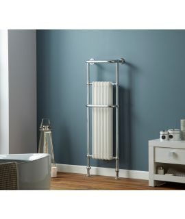 HeatQuick - Yew Vertical Towel Radiator - Chrome