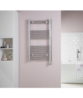 HeatQuick - Hackberry 43 Degree Regulated Towel Radiator - Chrome