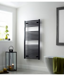HeatQuick - Tawny 25mm Flat Towel Radiator - Black
