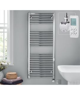 HeatQuick - Tawny Thermostatic Towel Radiator - Chrome