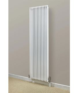 HeatQuick - Peregrine Single Vertical Radiator - White
