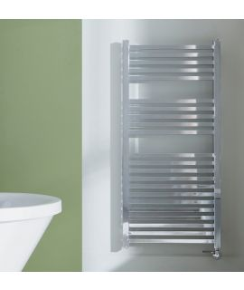 HeatQuick - Square Thermostatic Towel Radiator - Chrome