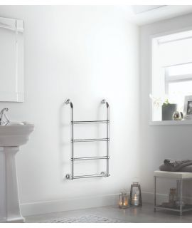 HeatQuick - Ash Vertical Towel Radiator - Chrome