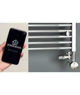 TowelRads - 600W WiFi Smart Thermostatic Element Chrome