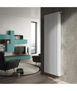 DeLonghi - 3 Column Vertical White Radiator