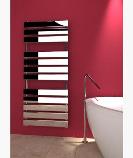 Kudox - Tova Towel Radiator -  Chrome - 1200 x 510