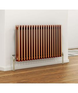 DQ - Peta 4 Column Horizontal Radiator - Copper - 742mm x 1691mm